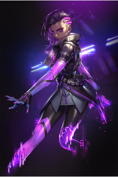 Tags: Anime, ZB (zombeing), Overwatch, Sombra (Overwatch), 800x1200 Wallpaper, 2:3 Ratio, Original, Wallpaper, PNG Conversion