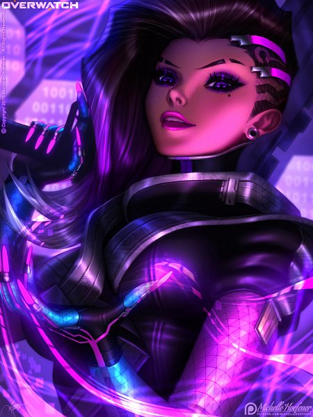 Tags: Anime, Michelle Hoefener, Overwatch, Sombra (Overwatch), Fanart