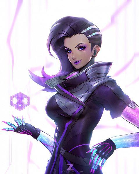 Tags: Anime, ZeroNis, Overwatch, Sombra (Overwatch), Purple Lips, deviantART, Fanart, Fanart From DeviantART