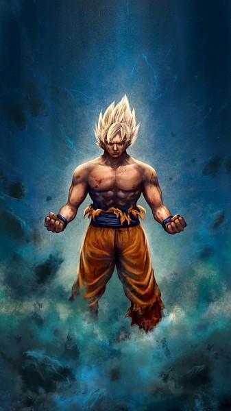 Tags: Anime, Yama Moto, DRAGON BALL, DRAGON BALL Z, Son Goku (DRAGON BALL), Mobile Wallpaper, Super Saiyan
