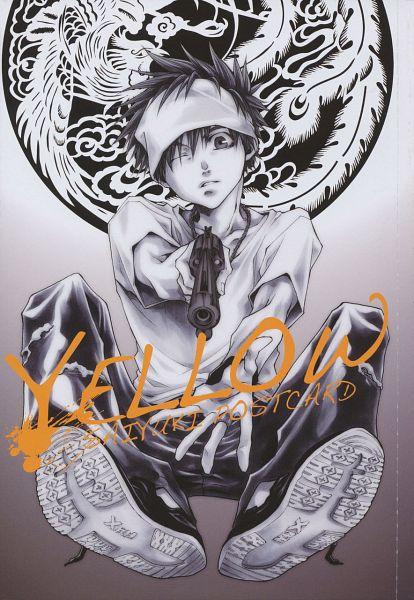 Tags: Anime, Minekura Kazuya, Saiyuki, Son Goku (Saiyuki), Aiming At Camera, Mobile Wallpaper, Scan, Official Art