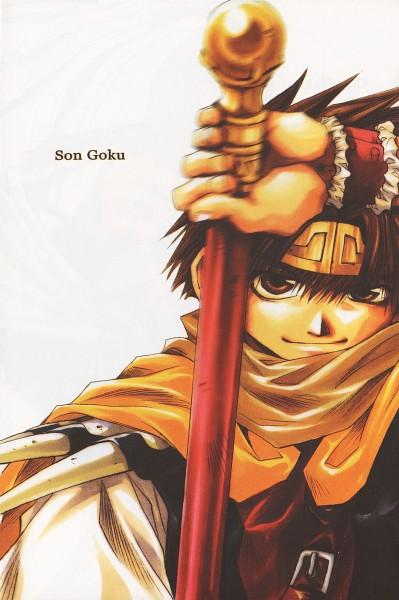 Tags: Anime, Kazuya Minekura, Saiyuki, Son Goku (Saiyuki), Scan, Mobile Wallpaper, Official Art