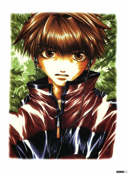 Tags: Anime, Minekura Kazuya, Saiyuki, Son Goku (Saiyuki), Earbuds, Scan, Official Art