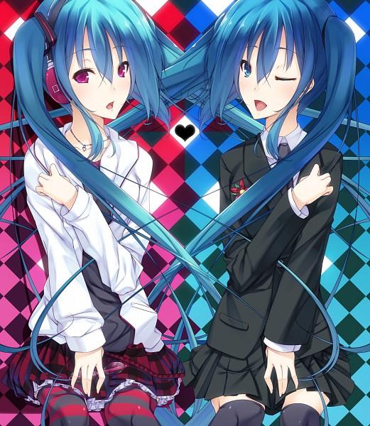 Tags: Anime, Aya Tsuzura, Project DIVA 2nd, VOCALOID, Hatsune Miku, Song-Over, Kocchi Muite Baby, Saihate
