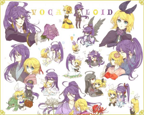 Tags: Anime, 3ji Tea, VOCALOID, Kamui Gakupo, Kagamine Rin, Asymmetrical Clothing, Yumemiru Kotori, siGrE, Story of Evil, Song-Over, Melt (Song), Akuno-p, Venomania no Ouyake no Kyouki