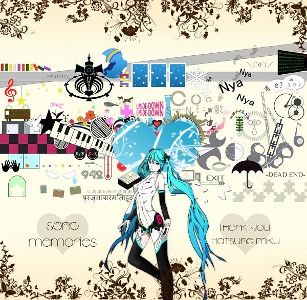 Tags: Anime, Pixiv Id 534449, VOCALOID, Hatsune Miku, Lynne, Love is War, Unhappy Refrain, The Disappearance of Hatsune Miku, Zureteiku, Ura-omote Lovers, from Y to Y, Saihate, Nisoku Hokou