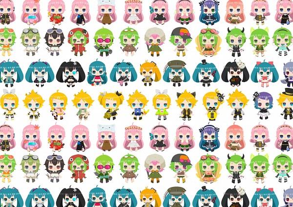 Tags: Anime, Niji (Pixiv3425091), Black★Rock Shooter, VOCALOID, Kagamine Len, Kagamine Rin, Akita Neru, Yowane Haku, Hatsune Miku, GUMI, Megurine Luka, Toeto, Enbizaka no Shitateya