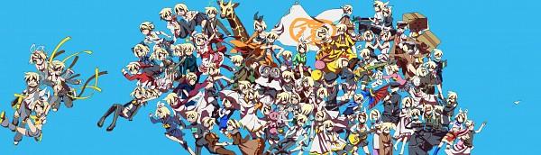 Tags: Anime, Sachirika, Project DIVA 2nd, VOCALOID, Kagamine Len, Kagamine Rin, IMITATION BLACK, Escape Romantic, Karakuri 卍 Burst, siGrE, Shuumatsu ga Yattekuru!, Akuno-p, Kokoro
