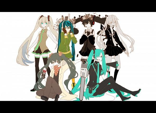Tags: Anime, lemontea, VOCALOID, Hatsune Miku, Chainsaw, Facial Tattoo, Love is War, Batsu Game (Song), Song-Over, Ai to Nasu to Heiwa na Kajitsu, Matryoshka, DECO*27, Nisoku Hokou