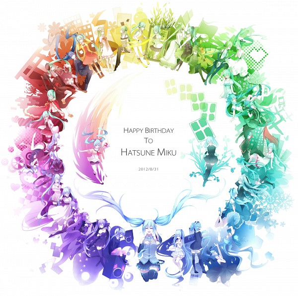 Tags: Anime, Lyodi, VOCALOID, Hatsune Miku, Rainbow Colors, Last Night Good Night, Song-Over, Alice in Musicland, Rolling Girl, Risky Game, Glorious World, World is Mine, Clock Lock Works