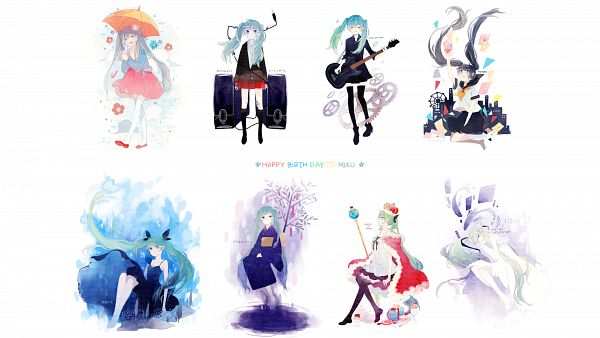 Tags: Anime, Kyang692, Project DIVA F 2nd, VOCALOID, Hatsune Miku, Royal Robe, Unstable Girl, Tanabata, Hachi-p, Wallpaper, Song-Over, Planetarium (Song), Melt (Song)