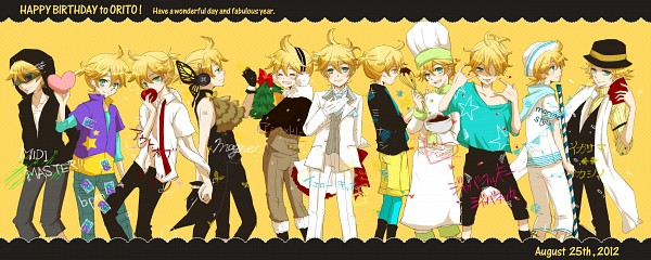 Tags: Anime, Pixiv Id 888977, Project DIVA 2nd, VOCALOID, Kagamine Len, Black Hoodie, Yellow Pants, Gemini, bpm, Magnet, Out of Eden, Facebook Cover, Song-Over