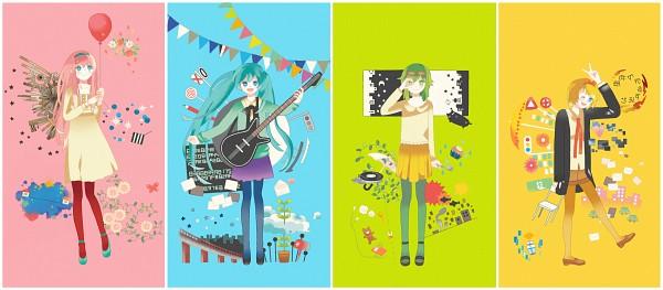 Tags: Anime, Pixiv Id 2887329, VOCALOID, Megurine Luka, Kagamine Rin, Hatsune Miku, , GUMI, Traffic Light, Revers Edge (Song), 249.51 (Song), Shuumatsu ga Yattekuru!, Sajou no Yume-kui Shoujo