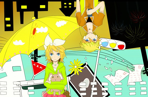 Tags: Anime, Pixiv Id 5144005, Project DIVA F, VOCALOID, Kagamine Len, Kagamine Rin, Song-Over, Project DIVA Starmine, Melancholic, Fire◎Flower, Project DIVA Melancholy, Kagamine Mirrors