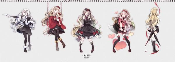 Tags: Anime, Iku2727, VOCALOID, MAYU (VOCALOID), Usano Mimi, Swing, Uso to Nuigurumi, Yuudachi no Ribon, Song-Over, Blue (Song), Twitter Header, Ichizu Na Kataomoi、Minorasetai Chiisana Shiawase
