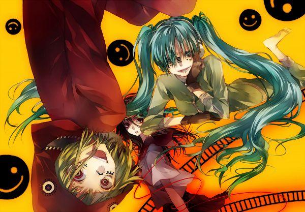 Tags: Anime, Tsukioka Tsukiho, VOCALOID, Hatsune Miku, GUMI, Hachi-p, Fanart, PNG Conversion, Pixiv, Lynne, Song-Over, Matryoshka