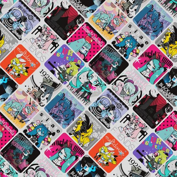 Tags: Anime, gozen4ji, Black★Rock Shooter, VOCALOID, Black★Rock Shooter (Character), Hatsune Miku, Megurine Luka, GUMI, Kagamine Len, Kagamine Rin, Hachi-p, Rotten Girl Grotesque Romance, Romeo and Cinderella