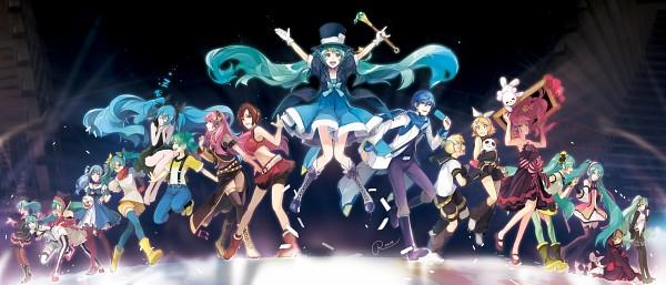 Tags: Anime, Rahwia Kim, Project DIVA F, Project DIVA Arcade Future Tone, Project DIVA F 2nd, VOCALOID, MEIKO (VOCALOID), Megurine Luka, Hatsune Miku, KAITO, Kagamine Len, Kagamine Rin, Project DIVA Arifureta Miku