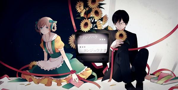 Tags: Anime, Yori, VOCALOID, Song-Over, Facebook Cover, Pixiv, Yonjuunana, Sarishinohara, Fanart