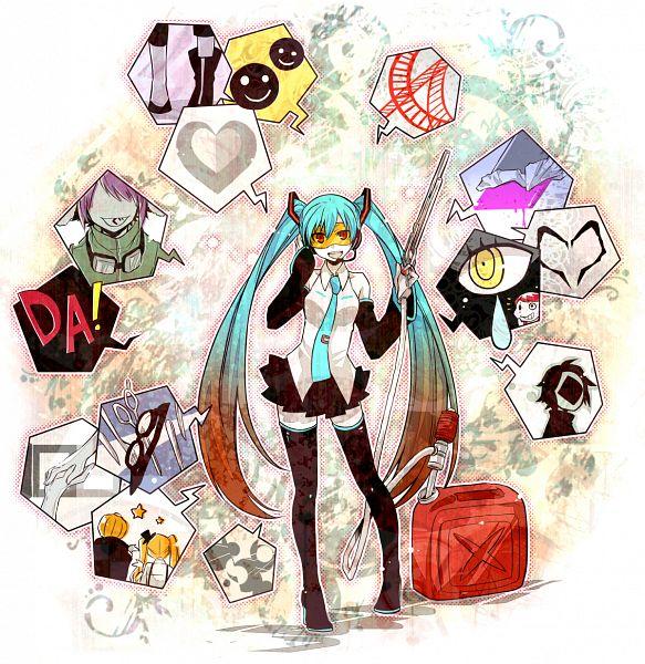 Tags: Anime, Yosakuh, VOCALOID, Hatsune Miku, Pentenshi ga Warau Koro ni, PNG Conversion, Mrs. Pumpkin no Kokkei na Yume, Nisoku Hokou, Panda Hero, Song-Over, DECO*27, Mosaic Role, Lynne