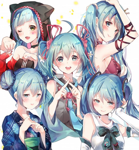 Tags: Anime, Pixiv Id 8173999, Project DIVA F, Project DIVA 2nd, VOCALOID, Hatsune Miku, Project DIVA Yukata Style, Catfood (VOCALOID), Magical Mirai 2017, Project DIVA Pierreta, Song-Over, Hatsune Miku 10th Anniversary Iracon, Fanart