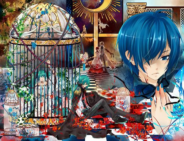 Tags: Anime, Saiyki, VOCALOID, MEIKO (VOCALOID), Hatsune Miku, KAITO, KAIKO, Kagamine Len, Hatsune Mikuo, Kagamine Rin, Song-Over, Tsumi No Tsuki, To Aru Uta Utai Ningyo no Kiroku