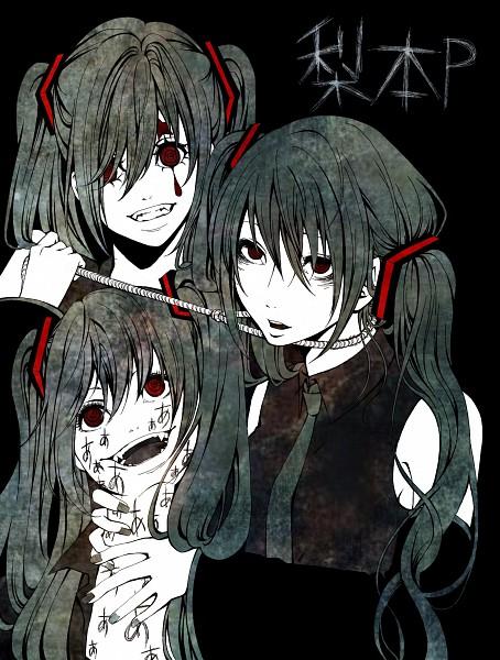 Tags: Anime, Pixiv Id 1145513, VOCALOID, Hatsune Miku, Noose, Choking, Hand on Neck, Fanart, Shinitagari, Pixiv, AaAaAaAAaAaAAa, Song-Over, Nashimoto-p