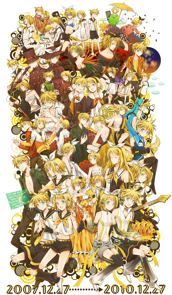 Tags: Anime, Yuuno (Yukioka), VOCALOID, Kagamine Len, Kagamine Rin, Magical Boy ☆ Kitty Len Len, Juvenile, Bird of Paradise (VOCALOID), Migikata no Chou, Trick and Treat (VOCALOID), Fire◎Flower, Roshin Yuukai, Melancholic