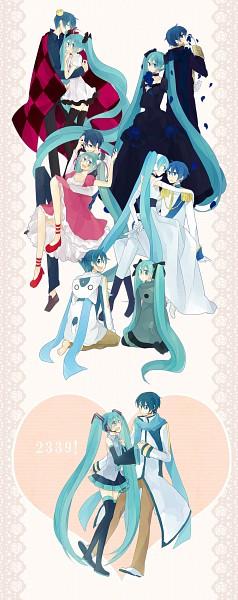 Tags: Anime, Mui (Pixiv2030520), Project DIVA F 2nd, VOCALOID, Hatsune Miku, KAITO, Melt (Song), Crazy Clown, World is Mine, Song-Over, Pixiv, Project DIVA Supreme, Cendrillon