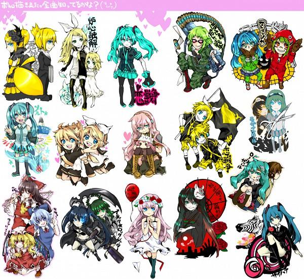 Tags: Anime, Nanami (Artist), Black★Rock Shooter, Project DIVA 2nd, Touhou, VOCALOID, Cirno, Flandre Scarlet, Hakurei Reimu, GUMI, Megurine Luka, Kagamine Len, Kagamine Rin