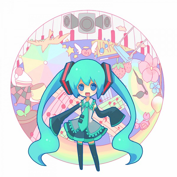 Tags: Anime, Kuo, VOCALOID, Hatsune Miku, Pudding, Crab, Miracle Paint, World is Mine, *Hello Planet。, Pixiv, Fanart, Electric Angel, Song-Over