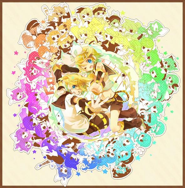 Tags: Anime, Miwasiba, VOCALOID, Kagamine Len, Kagamine Rin, Chronophobia, Eager♥Believer, Fanart, Himitsu - Kuro no Chikai, Trick and Treat (VOCALOID), Remote Control, Story of Evil, Suki Kirai