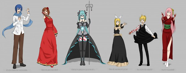 Tags: Anime, Kumkrum, VOCALOID, Kagamine Len, Kagamine Rin, MEIKO (VOCALOID), Megurine Luka, Hatsune Miku, KAITO, Hitobashira Alice, Facebook Cover, Song-Over, Story of Evil