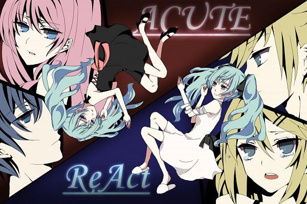 Tags: Anime, Pixiv Id 121702, VOCALOID, Megurine Luka, Hatsune Miku, KAITO, Kagamine Len, Kagamine Rin, Laying in Circle, Song-Over, ACUTE, Pixiv, ReAct