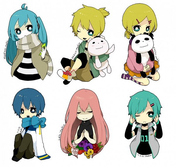 Tags: Anime, Pixiv Id 1861025, VOCALOID, KAITO, Kagamine Len, Hatsune Mikuo, Kagamine Rin, Megurine Luka, Hatsune Miku, Song-Over, Strobe Last, Pixiv, Leia