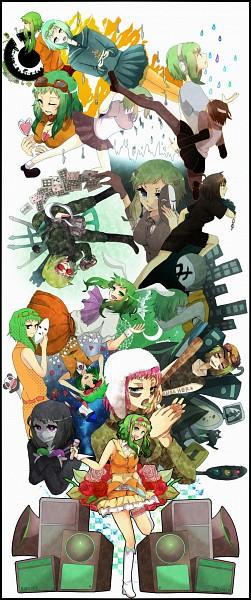 Tags: Anime, Pixiv Id 2350086, VOCALOID, GUMI, Bokura no 16bit Warz, Panda Hero, Song-Over, DECO*27, Juu Mensou, Mosaic Role, cosMo-p, Poker Face, Yowamushi Montblanc
