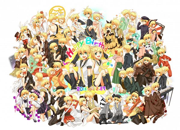 Tags: Anime, Kuchi, Project DIVA 2nd, VOCALOID, Kagamine Len, Kagamine Rin, Akuno-p, Adolescence, Haito Atelierista Nite, Story of Evil, escapade (Song), Append, Trick and Treat (VOCALOID)