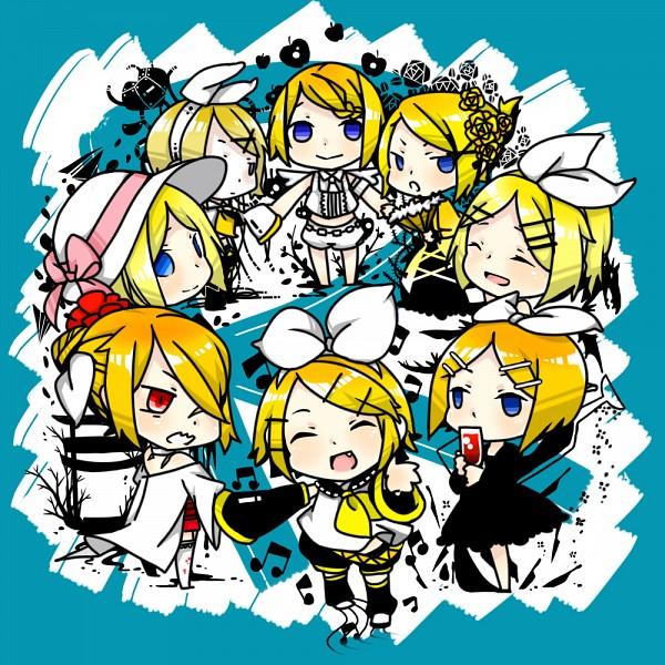 Tags: Anime, Lou (Mangaka), VOCALOID, Kagamine Rin, Himitsu - Kuro no Chikai, Karakuri 卍 Burst, Kokoro, Fanart, Prisoner Series, Pixiv, Song-Over, Story of Evil, Akuno-p
