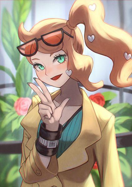 Tags: Anime, Gomashiwo, Pokémon Sword & Shield, Pokémon, Sonia (Pokémon), Heart Hair Ornament, Heart Clip