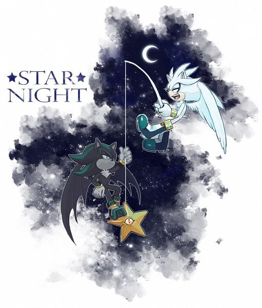 Tags: Anime, C2ndy2c1d, Sonic '06, Sonic the Hedgehog, Silver the Hedgehog, Mephiles the Dark, Fishing, deviantART, Fanart From DeviantART, Fanart