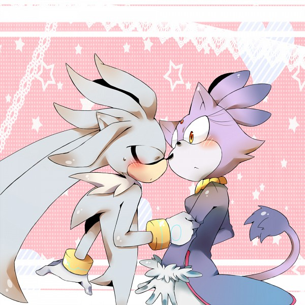 Tags: Anime, Pixiv Id 303565, Sonic '06, Sonic the Hedgehog, Blaze the Cat, Silver the Hedgehog, Fanart From Pixiv, Fanart, Pixiv