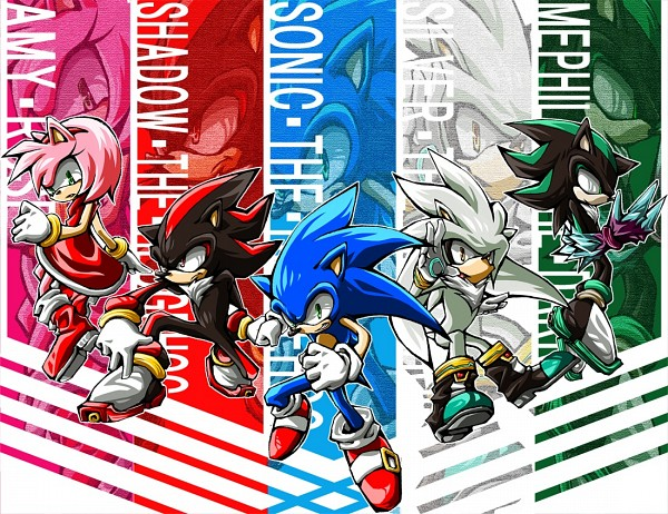 Tags: Anime, Pixiv Id 2242493, Sonic '06, Sonic the Hedgehog, Mephiles the Dark, Silver the Hedgehog, Shadow the Hedgehog, Amy Rose, Sonic the Hedgehog (Character), Pixiv, Fanart, Fanart From Pixiv