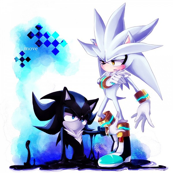 Tags: Anime, Gingerale, Sonic '06, Sonic the Hedgehog, Mephiles the Dark, Silver the Hedgehog, Fanart From Pixiv, Fanart, Pixiv