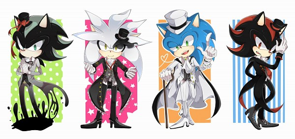 Tags: Anime, Tobari (Brokenxxx), Sonic '06, Sonic the Hedgehog, Silver the Hedgehog, Shadow the Hedgehog, Sonic the Hedgehog (Character), Mephiles the Dark, Fanart, Facebook Cover, Fanart From Pixiv, Pixiv