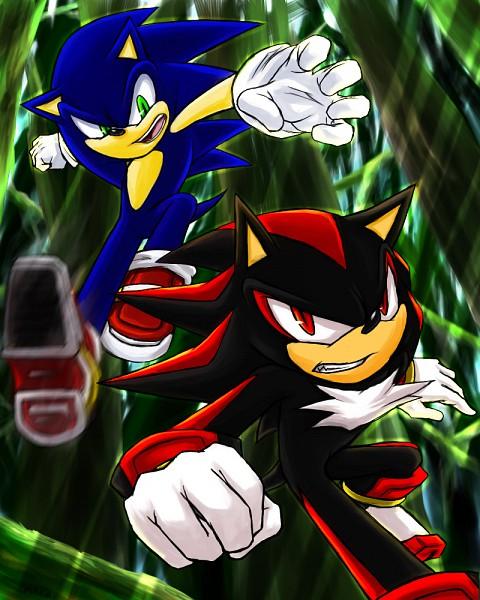 Tags: Anime, Maruringo, Sonic Adventure 2 Battle, Sonic the Hedgehog, Shadow the Hedgehog, Sonic the Hedgehog (Character), deviantART, Fanart From DeviantART, Fanart