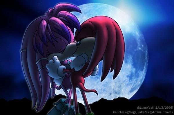 Tags: Anime, Lululunabuna, Sonic the Hedgehog (Archie Comic Series), Sonic the Hedgehog, Knuckles the Echidna, Julie-Su the Echidna, Downscale, deviantART, Fanart From DeviantART, Fanart