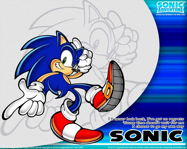Tags: Anime, SEGA, Sonic Adventure, Sonic the Hedgehog, Sonic the Hedgehog (Character), Wallpaper, Official Art