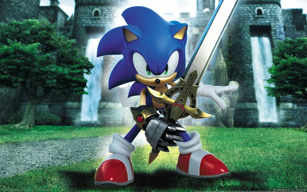 Tags: Anime, SEGA, Sonic and the Black Knight, Sonic the Hedgehog, Sonic the Hedgehog (Character), Official Art, Wallpaper, HD Wallpaper, 3D