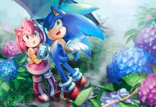 Tags: Anime, Mri, Sonic the Hedgehog, Amy Rose, Sonic the Hedgehog (Character), Fanart, Pixiv, Fanart From Pixiv