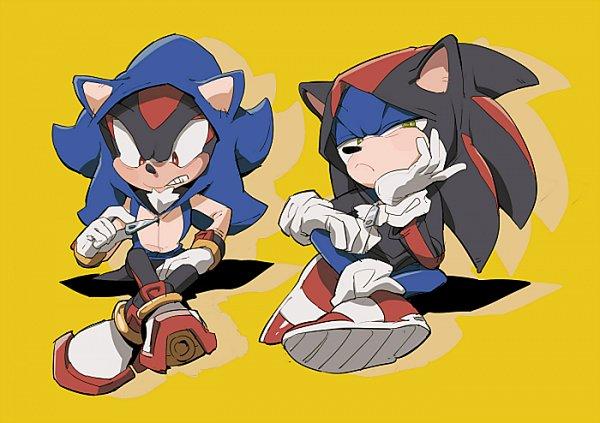 Tags: Anime, Aoki (Pixiv60197), Sonic the Hedgehog, Sonic the Hedgehog (Character), Shadow the Hedgehog, Sonic the Hedgehog (Cosplay), Shadow The Hedgehog (Cosplay), Pixiv, Fanart From Pixiv, Fanart